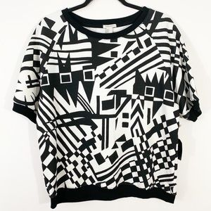 FOREVER 21 Athletic Top Patterned Large